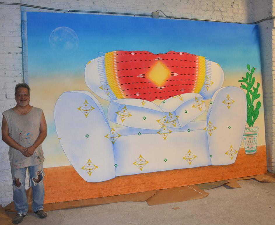 Me & my painting, Sofa Azteca 2013