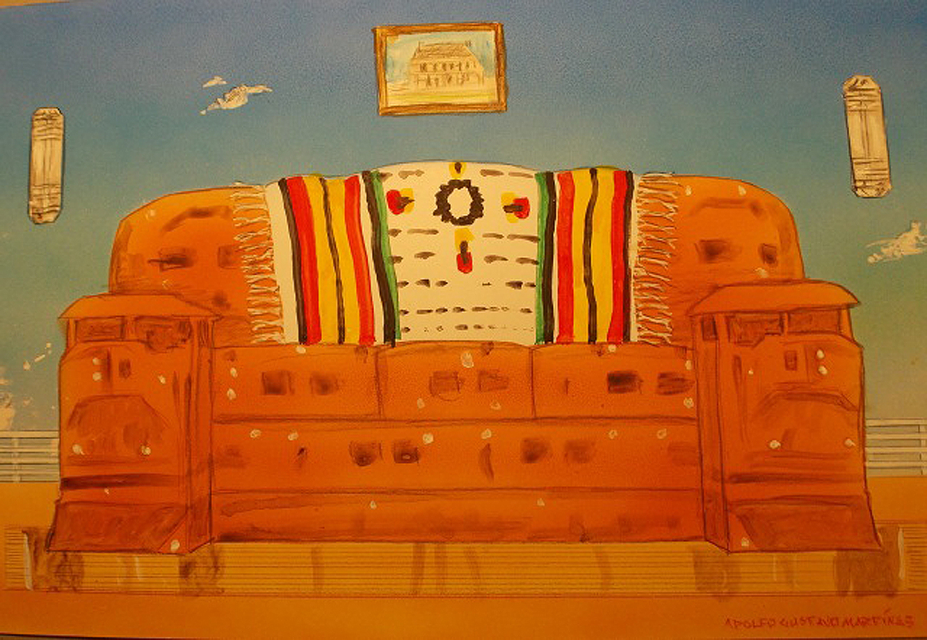 Olathe Train Sofa Sketch