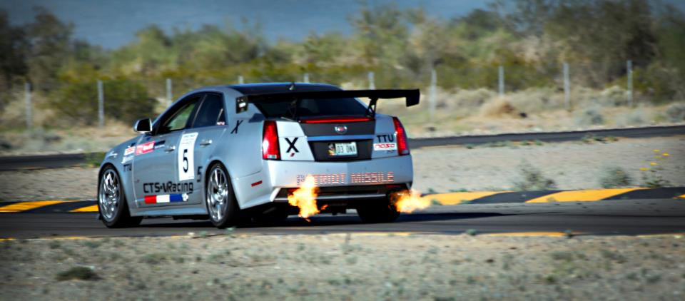 The Patriot Missile throwing flames at Chuckwalla Raceway for Cadillac Challenge (3-24-2013)