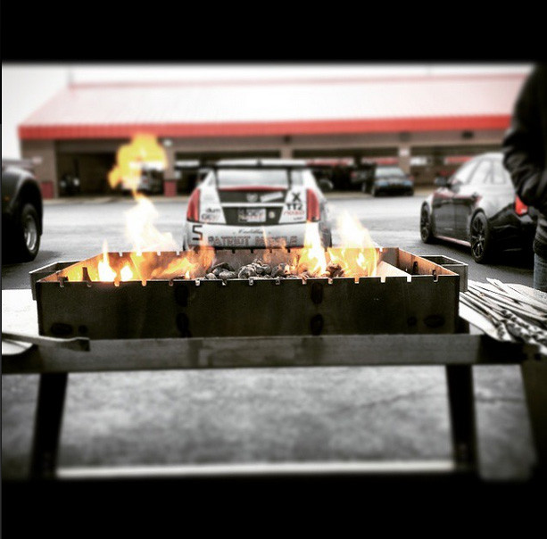 Celebration BBQ with GevPwr at Cadillac Challenge: Round 1 at Autoclub Speedway (2-22-2015)