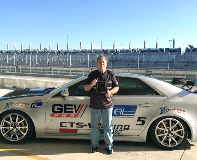Driver, Alan Cohen won at the Cadillac Challenge at COTA (4-25-2015)