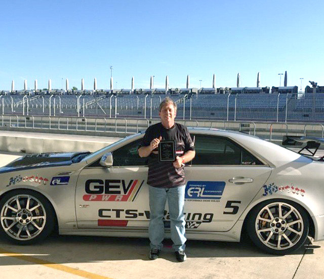 Driver, Alan Cohen won at the Cadillac Challenge at COTA (4-25-2015)