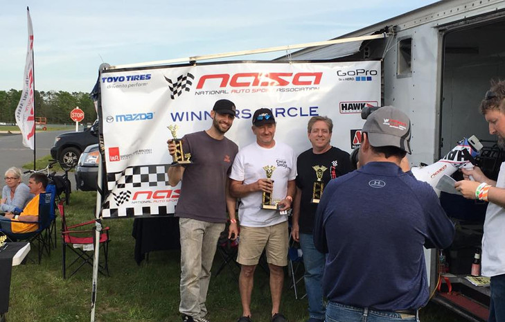 In the winner's circle at NJMP Lightning Course with NASA NE (5-20-2015)