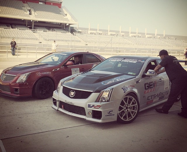 Getting ready for the line up with GevPwr at the Cadillac Challenge at COTA (4-25-2015)