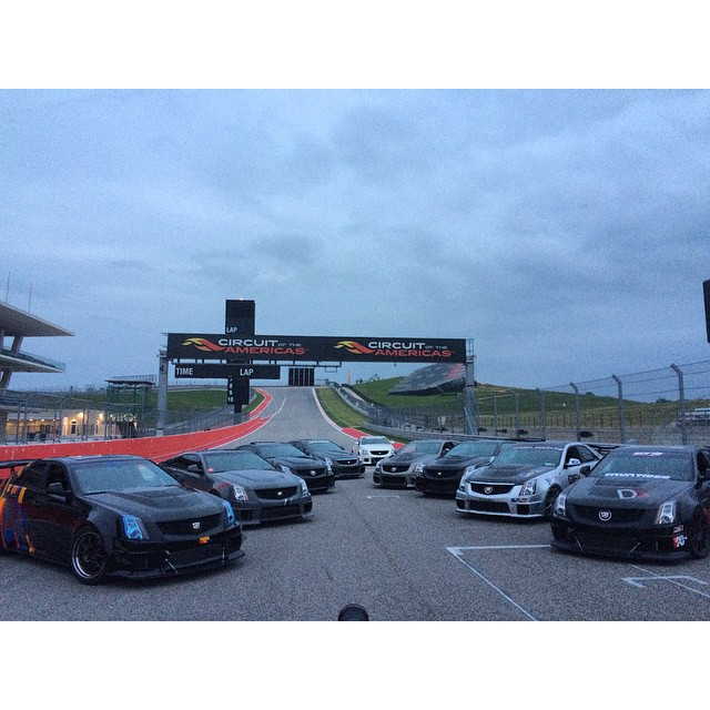 V's lined up at the Cadillac Challenge at COTA (4-25-2015)