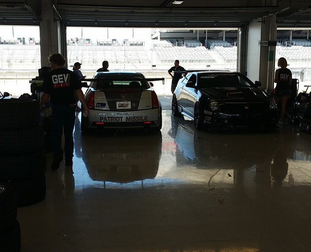 In the garage at the Cadillac Challenge at COTA (4-25-2015)