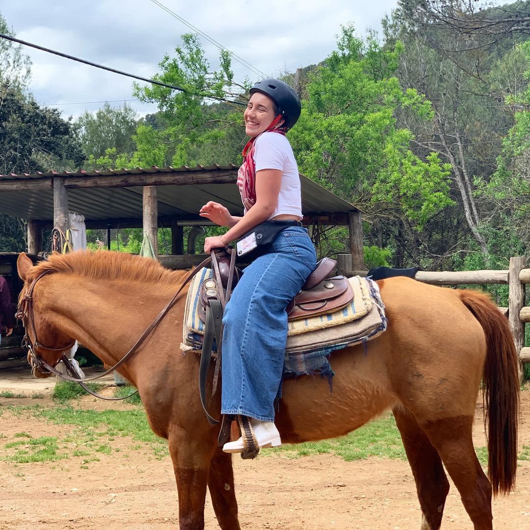 HORSEBACK RIDING IN THE MOUNTAINS OF MONSERRAT IN BARCELONA, SPAIN