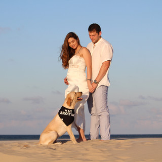 Sand Dunes in South Padre Island, Texas offer the best locations for a Maternity Shoot.