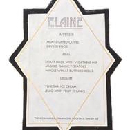 ROUGH DRAFT TABLE MENU CARD