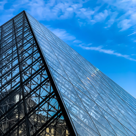 THE PYRAMID AT THE LOUVRE, PARIS, FRANCE