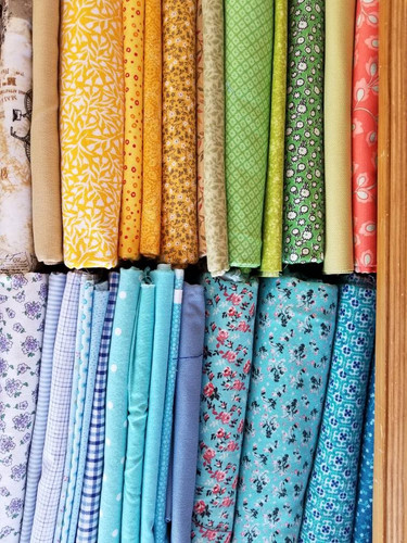 My stash of fabric choices