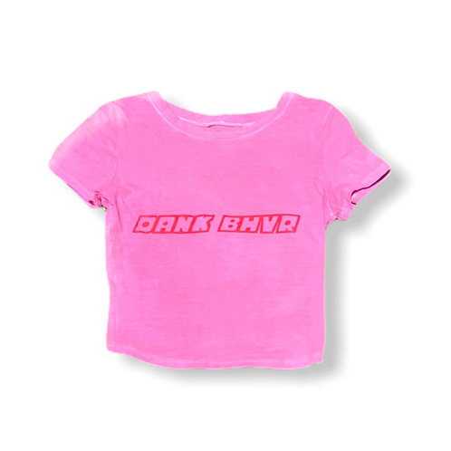 Pink Powderpuff crop