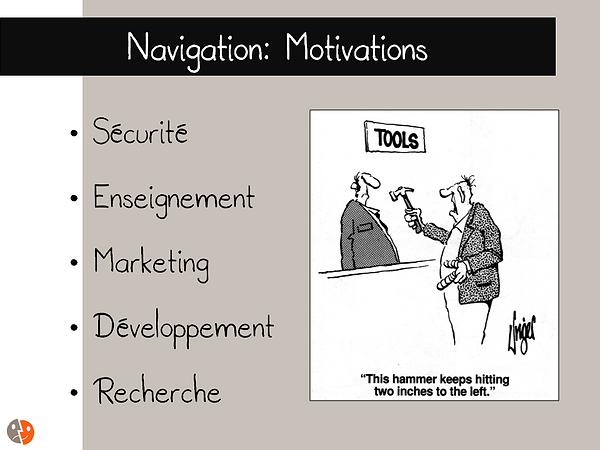 Navigation: motvation