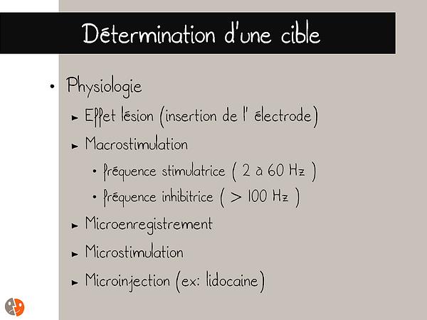 Détermination d'une cible - Physiologie