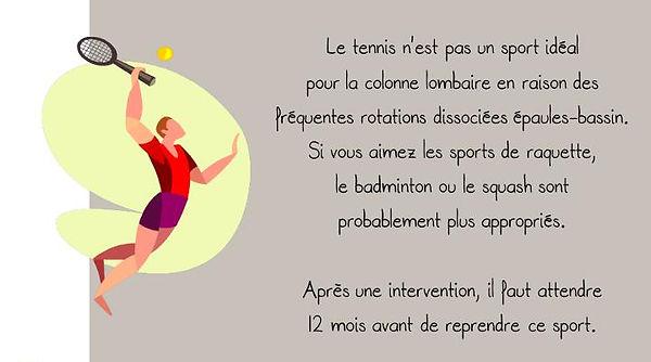 Prévention colonne: Tennis