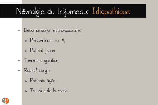 Névralgie du trijumeau idiopathique: options chirurgicales