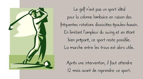 Prévention colonne: Golf
