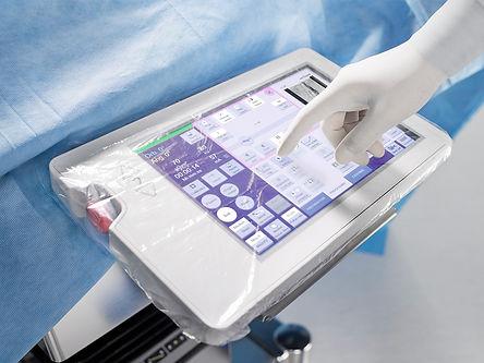 Radioscopie Siemens Cios Fusion - Panneau de commande chirurgien