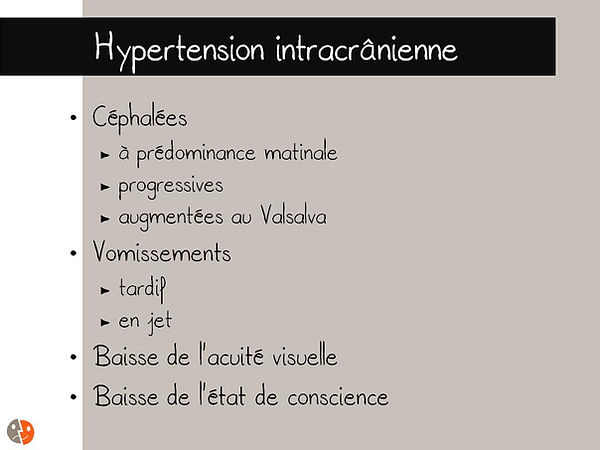 Hypertension intracrânienne: Clinique
