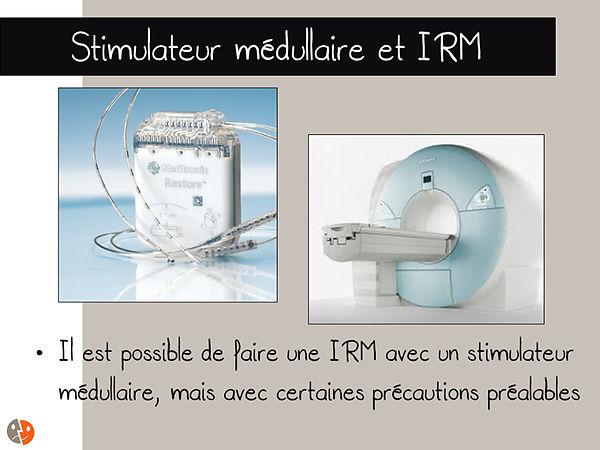Stimulateur médullaire et IRM