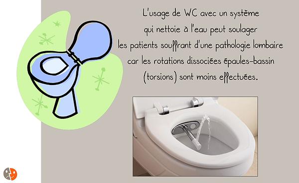Prévention lombaire: WC