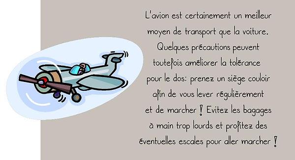 Prévention colonne: Avion
