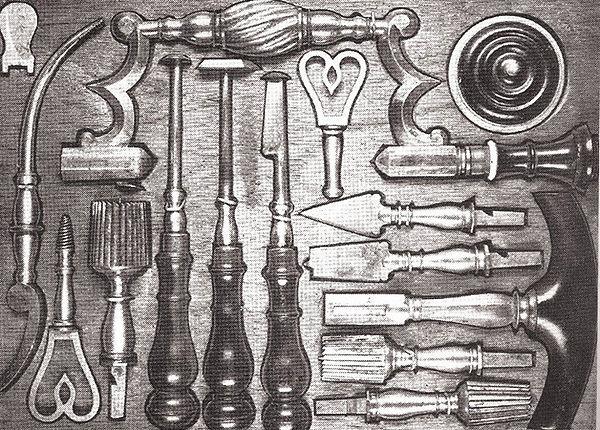 Instruments de trépanation de Harvey Cushing