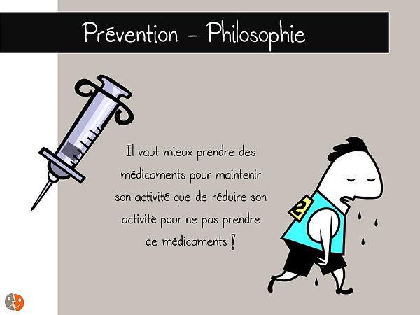 Prévention colonne: Philosophie