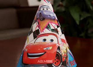 כובעי יום הולדת מכוניות ספידי מקווין