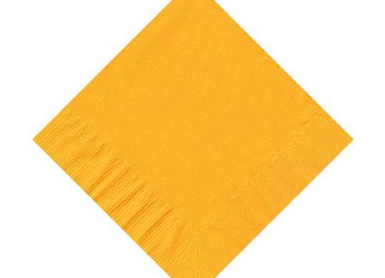 מפית דו שכבתית צבע צהוב 50 יחידות