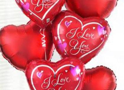 בלוני הליום מטאליים מנופחים אהבה