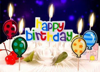נרות יום הולדת עם בלונים