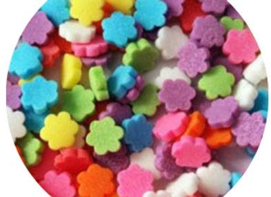סוכריות קישוט לעוגה פרחים צבעוניים