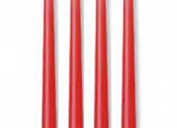 רביעיית נרות בצבע אדום