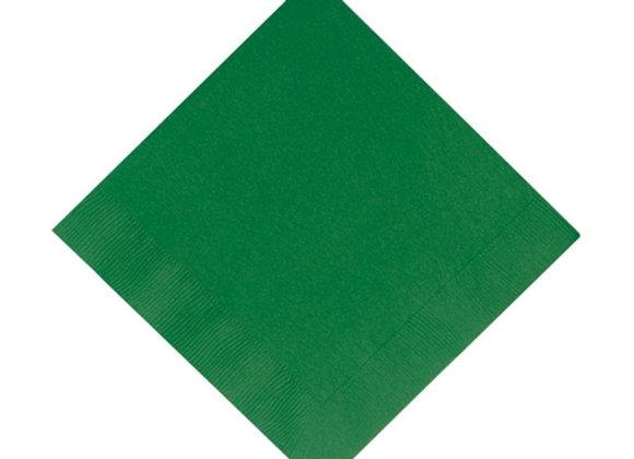 מפית דו שכבתית צבע ירוק כהה 50 יחידות