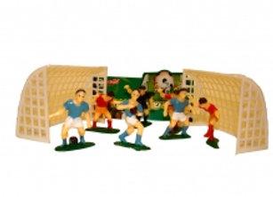 סט שערים+ שחקני כדורגל
