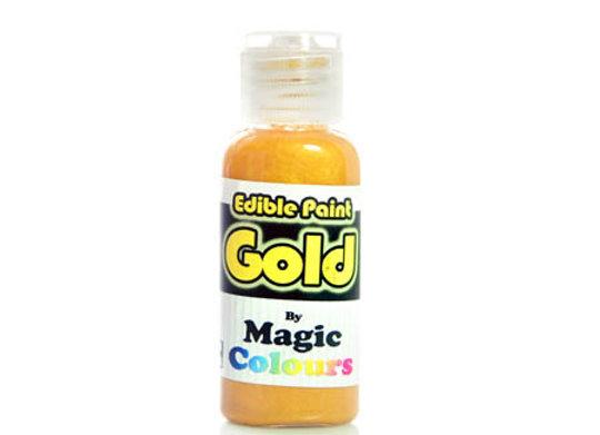 צבע מאכל מטאלי זהב