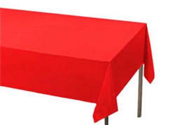 מפת שולחן  אדומה אלבד 2.70 מטר 1.20 רוחב