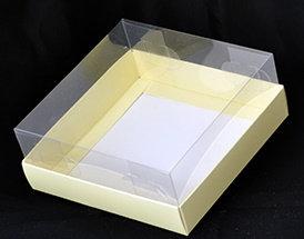 קופסה לעוגה מכסה שקוף 30*30