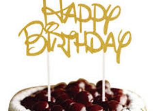 טופר נייר יום הולדת שמח זהב