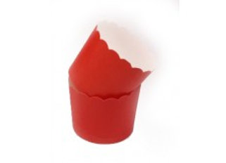 מארז גביעי אפייה בינוני בצבע אדום