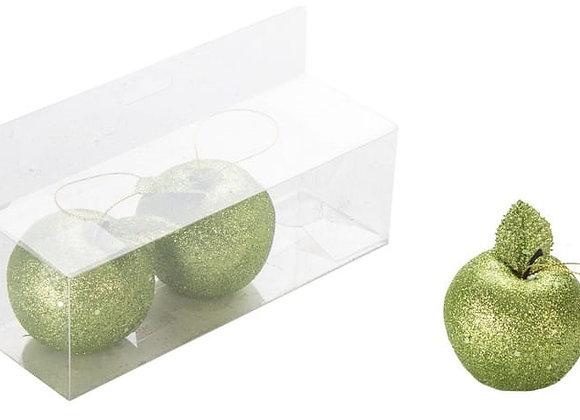 שלישיית תפוחים בינוניים ירוקים לקישוט