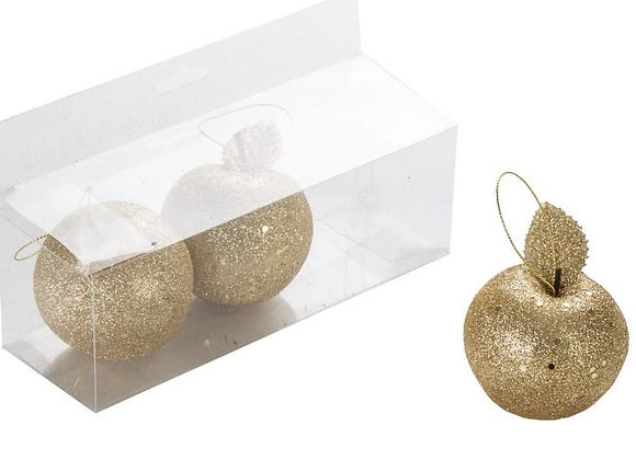 שלישיית תפוחים בינוניים זהב לקישוט