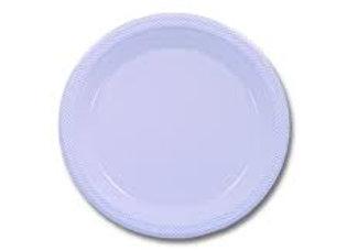 """צלחות פלסטיק  לבן גודל 23 ס""""מ"""