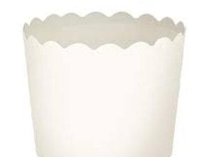 מארז גביעי אפייה בינוני בצבע לבן