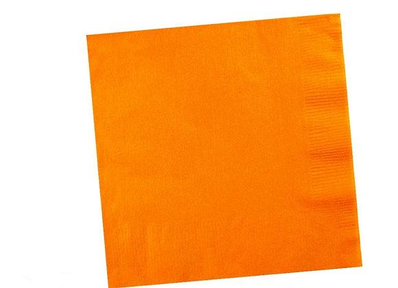 מפית דו שכבתית צבע כתום 50 יחידות
