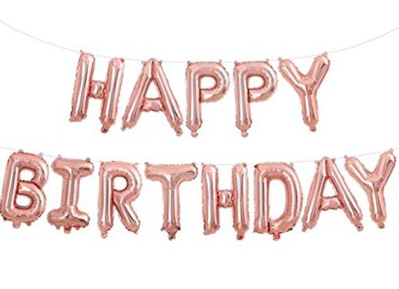 בלון אותיות HAPPY BIRTHDAY רוז גולד
