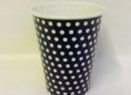 כוס דגם נקודות שחור לבן