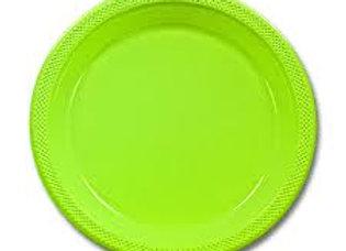 """צלחות פלסטיק  ירוק גודל 23 ס""""מ"""