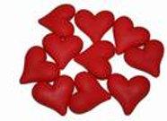לבבות בצבע אדום מבצק סוכר